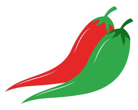 Hot chilli papers, illustration, vector on white background
