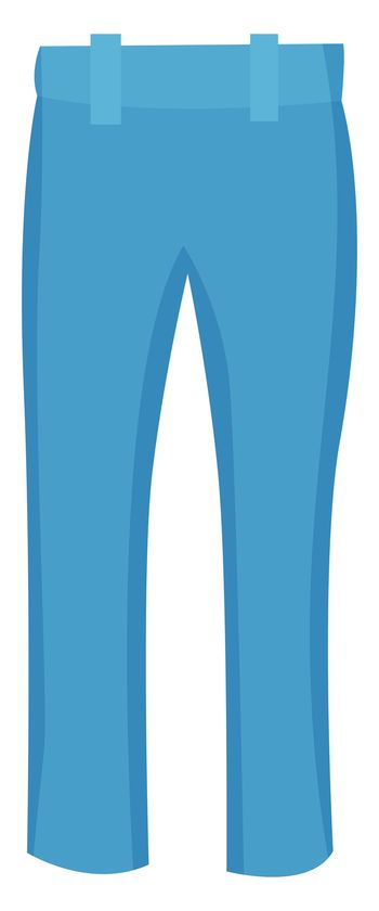 Blue woman jeans, illustration, vector on white background