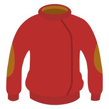 Red winter jacket, illustration, vector on white background
