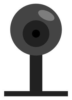 Web camera, illustration, vector on white background