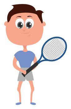 Tennis player , illustration, vector on white background