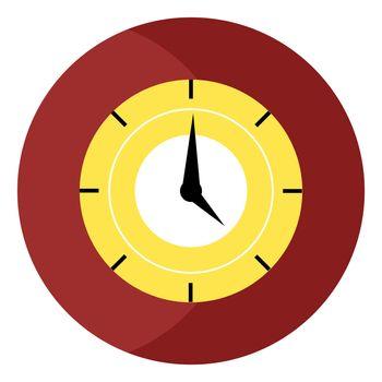 Big clock, illustration, vector on white background