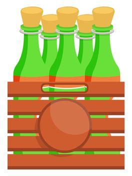 Pack of beer , illustration, vector on white background
