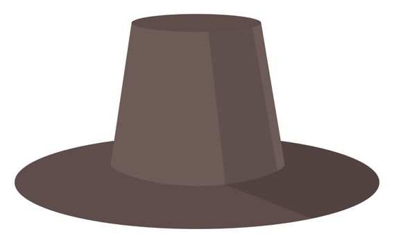 Man black hat, illustration, vector on white background
