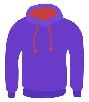 Purple sweater, illustration, vector on white background