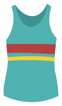 Girl blue shirt, illustration, vector on white background