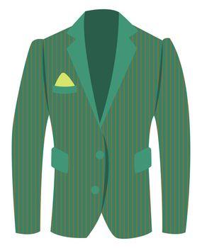 Green man jacket, illustration, vector on white background
