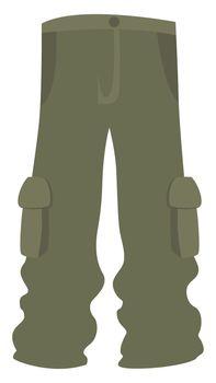 Green man pants, illustration, vector on white background