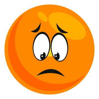 Sad emoji, illustration, vector on white background