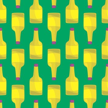 Yellow bottle pattern , illustration, vector on white background