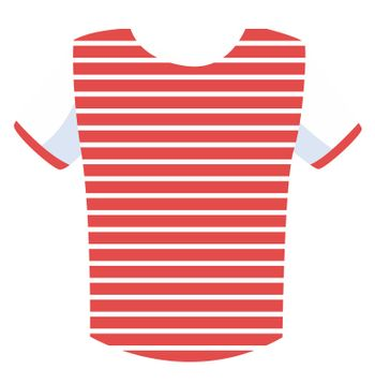 Striped shirt, illustration, vector on white background