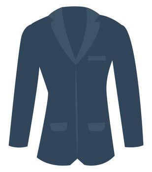 Blue man suit, illustration, vector on white background