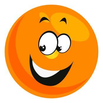 Smiling smiley, illustration, vector on white background