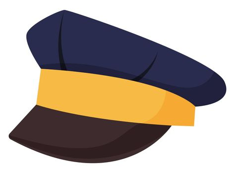 Police cap, illustration, vector on white background
