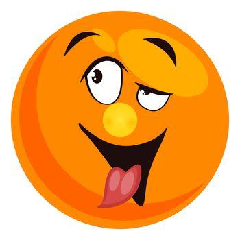 Drunk emoji, illustration, vector on white background