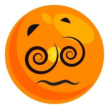 Dizzy emoji, illustration, vector on white background