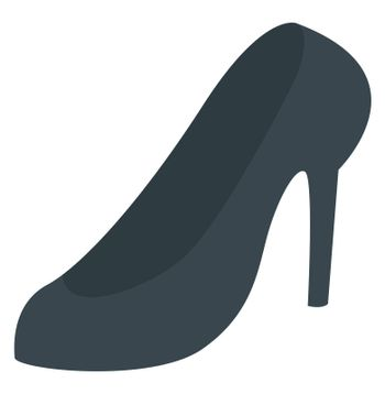 Woman heels, illustration, vector on white background