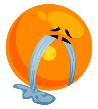 Crying emoji, illustration, vector on white background