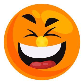 LOL emoji, illustration, vector on white background
