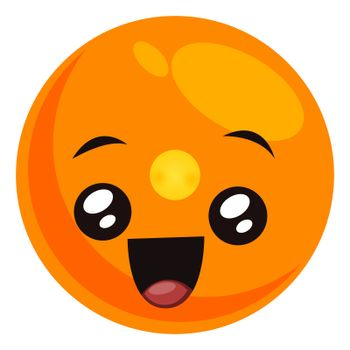 Cute emoji, illustration, vector on white background