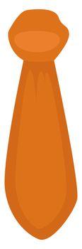 Orange man tie, illustration, vector on white background