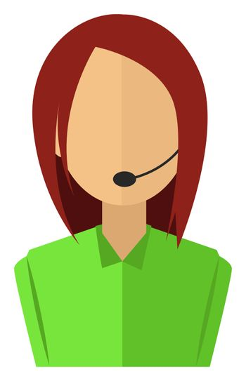Girl operater avatar, illustration, vector on white background