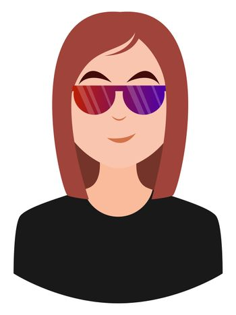 Girl with sunglasses emoji, illustration, vector on white background