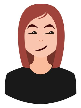 Smug girl, illustration, vector on white background