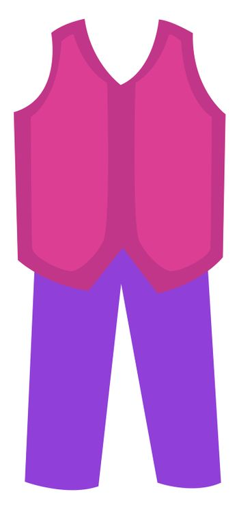 Woman pink suit, illustration, vector on white background