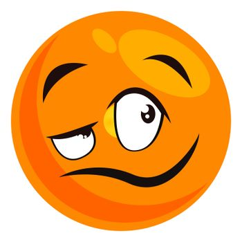 Cool emoji, illustration, vector on white background