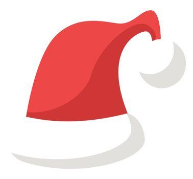 Christmas hat, illustration, vector on white background