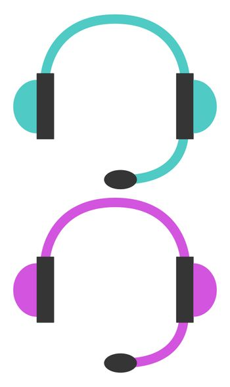 Headphones, illustration, vector on white background
