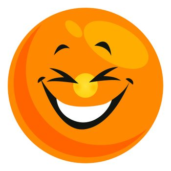 Happy smiley, illustration, vector on white background