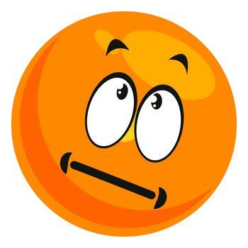 Thinking emoji, illustration, vector on white background