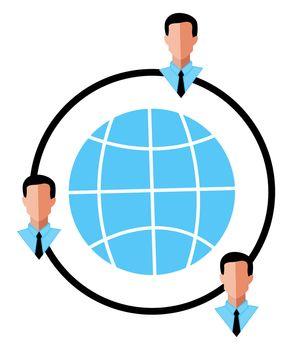 Globalization logo, illustration, vector on white background