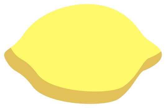 Lemons, illustration, vector on white background