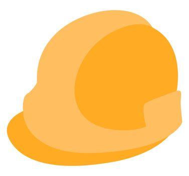 Construction helmet, illustration, vector on white background