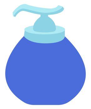 Hand sanitizer, illustration, vector on white background