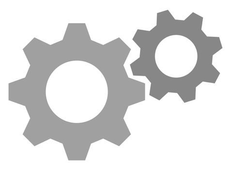 Gears, illustration, vector on white background