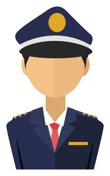 Police officer, illustration, vector on white background