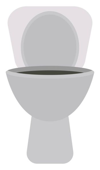 Toilet seat, illustration, vector on white background