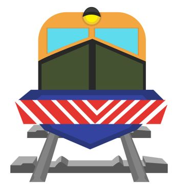 City train, illustration, vector on white background