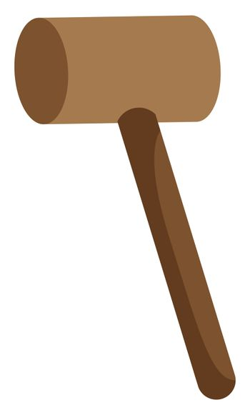 Mallet for meat, illustration, vector on white background