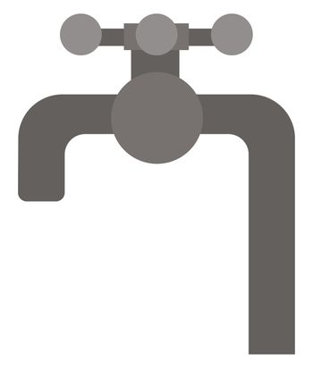 Water tap, illustration, vector on white background