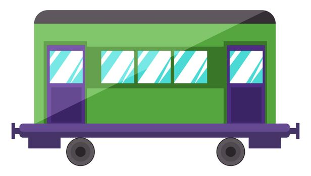 Waggon, illustration, vector on white background