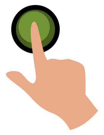 Green button, illustration, vector on white background