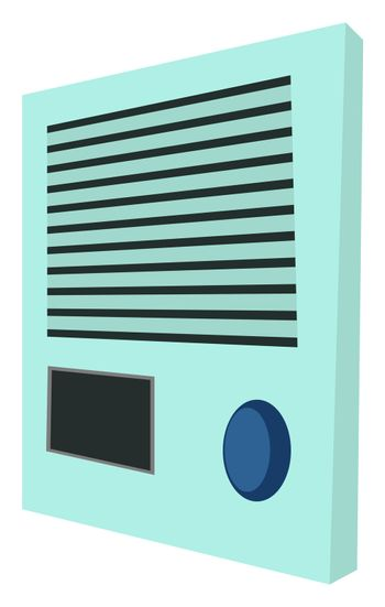 Ventilator control, illustration, vector on white background
