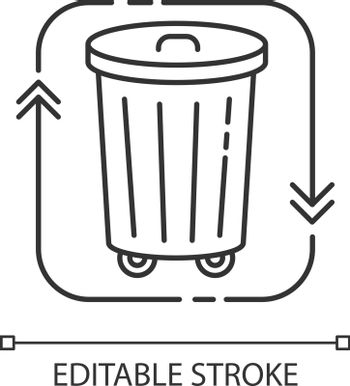 Waste disposal pixel perfect linear icon