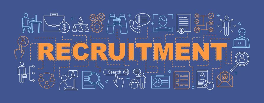 Recruitment word concepts banner