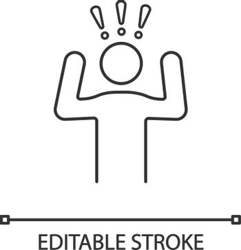 Anxiety linear icon
